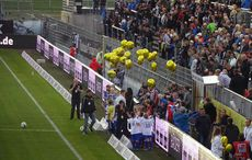 Luftballons für den Sponsoren-Geburtstag…