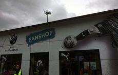 Der SVS-Fanshop mit neuer Fassade…
