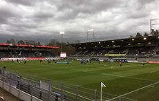 Finstere Wolken über dem Hardtwaldstadion…