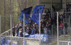 Der Gästeblock mit ca. 300 SCP-Fans…