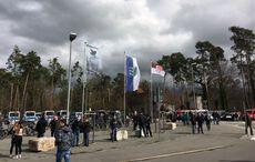 Es wurde eine Sankt-Pauli-Fahne aufgezogen…
