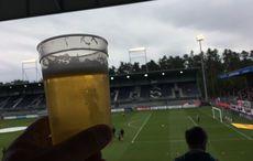 Sandhäuser Stadionbier aus Karlsruhe…
