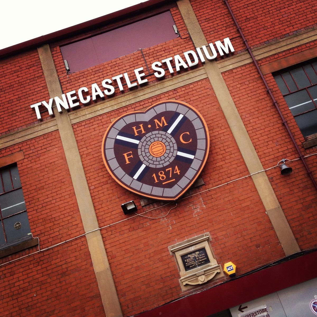 Tynecastle Stadium Edinburgh im August 2013