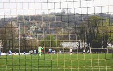 Blick durchs Netz auf den Michaelsberg…