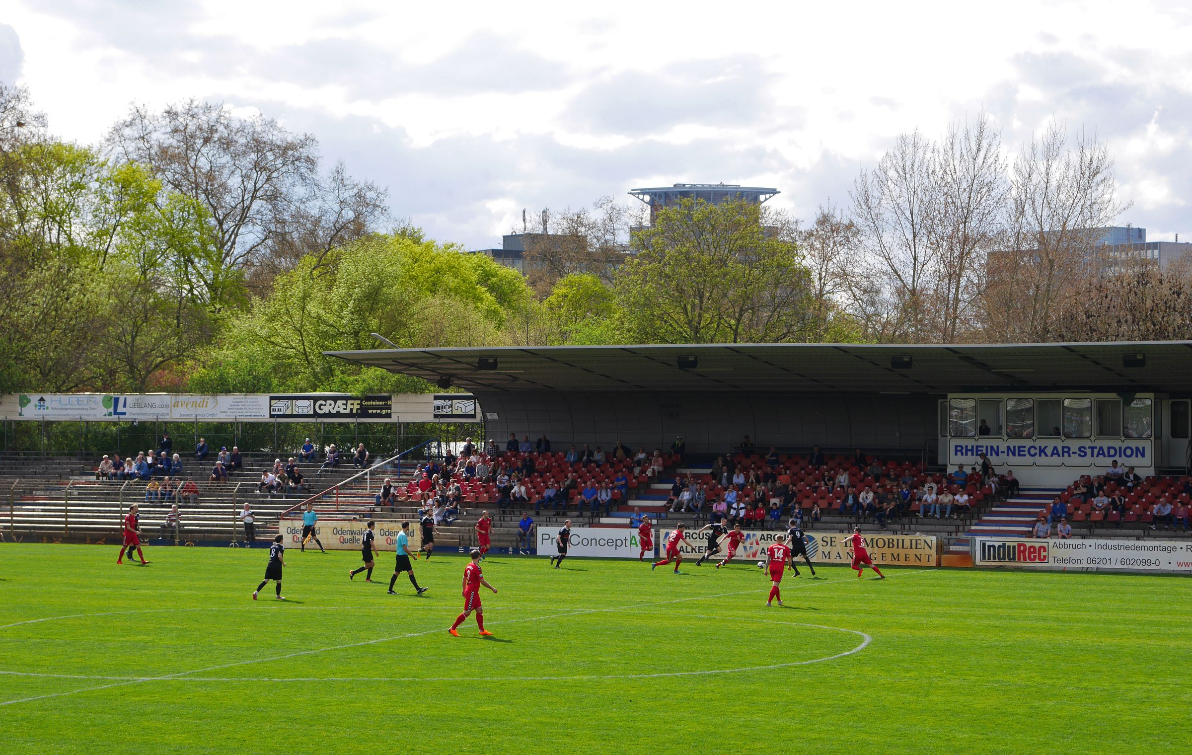 Action im Rhein-Neckar-Stadion.