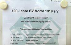 100 Jahre SV Vorst – Jubiläumsprogramm!