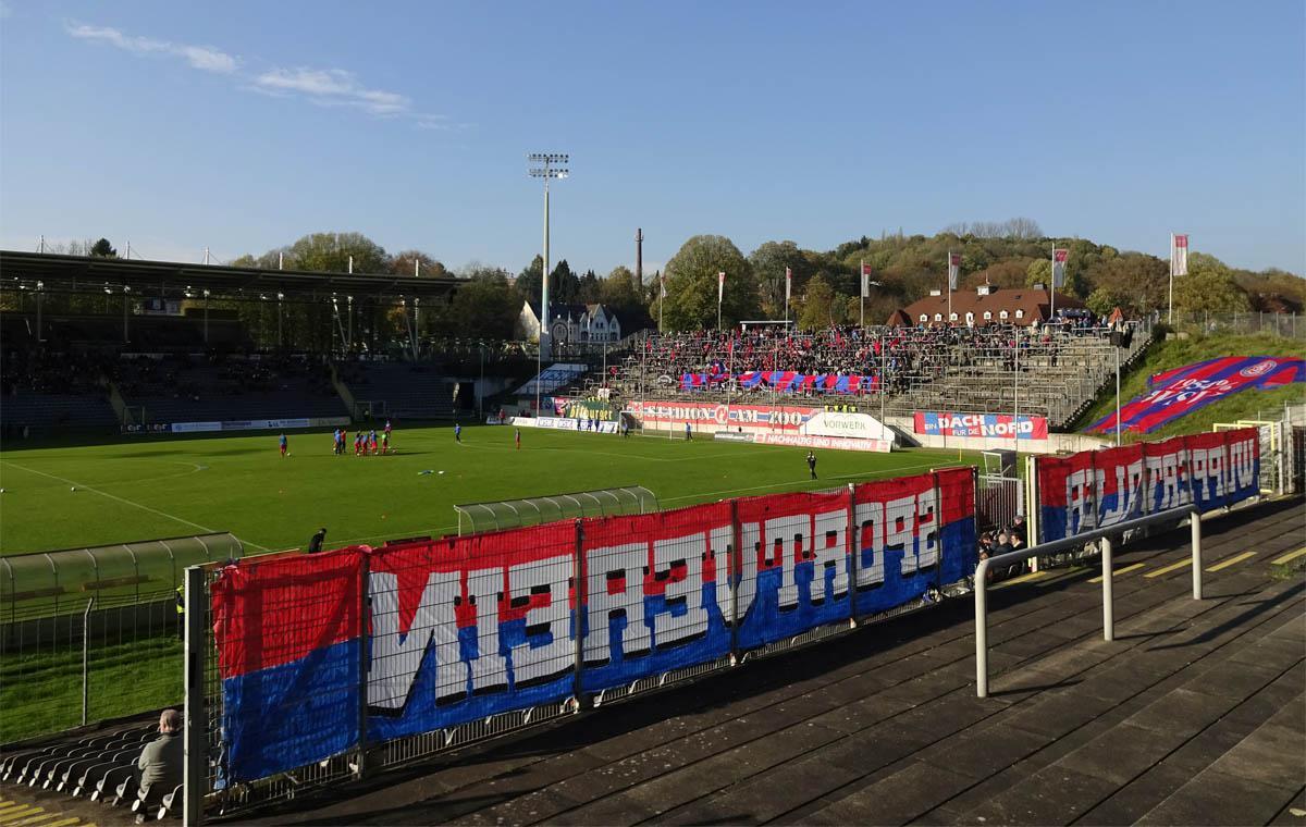 Blick über das Stadion.